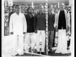 Serajul Alam Khan & Mates with Bangabandhu